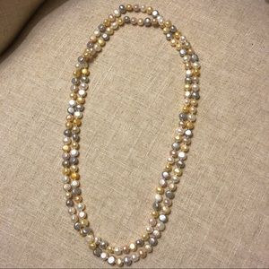 Multicolor authentic pearl long necklace